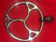Polished stainless steel new triskle shibari suspension with spinner