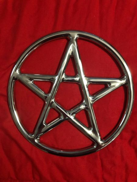 Polished Stainless steel star / pentagram shibari suspension ring 9 inch