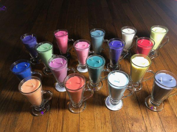 All 17 8oz glasses single color