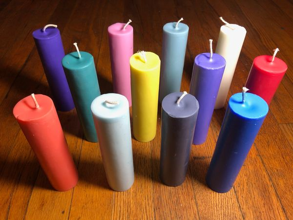 12 pack candles non black light