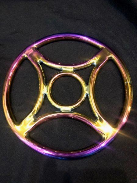Rainbow stainless steel Four corner shibari suspension ring