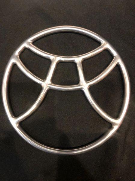 Polished stainless steel pagoda shibari suspension ring
