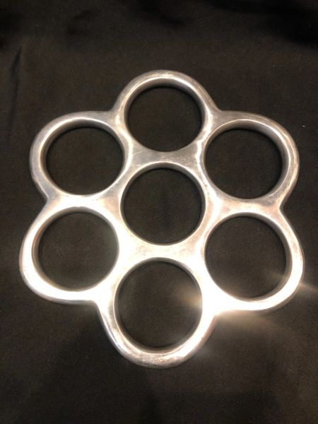 Polished aluminum Revolver shibari suspension ring