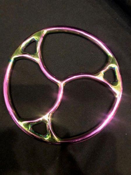 Rainbow stainless steel New Triskle shibari suspension ring