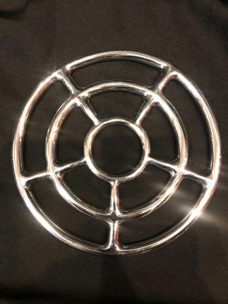 Polished Stainless steel Triple shibari suspension ring