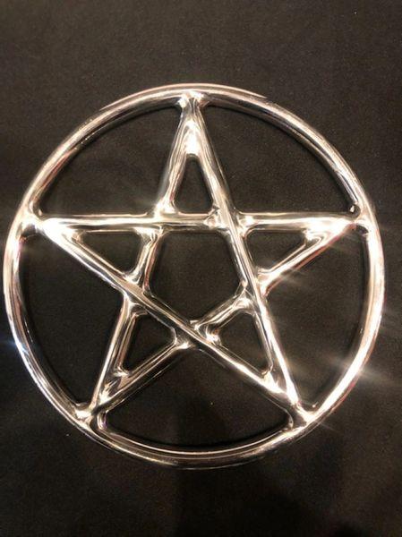Polished Stainless steel star / pentagram shibari suspension ring 9 inch