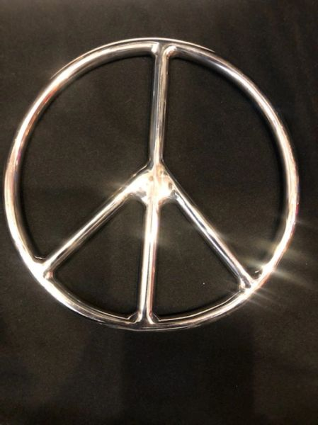 Polished Stainless steel peace shibari suspension ring