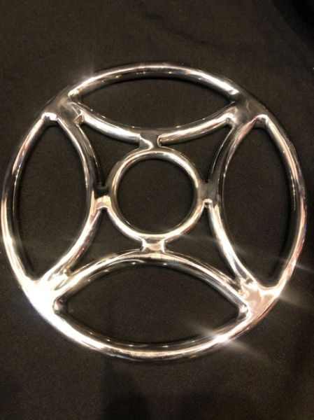Polished stainless steel four corners shibari suspension ring