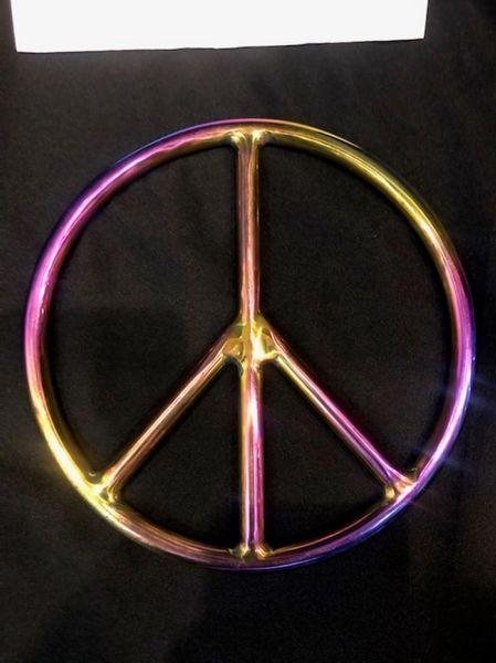 Rainbow stainless steel peace shibari suspension ring