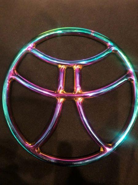 Rainbow stainless steel pagoda shibari suspension ring