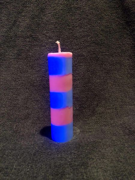 Cotton candy candle