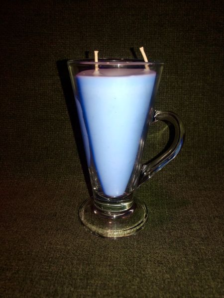 Dolphin Blue 8 oz glass