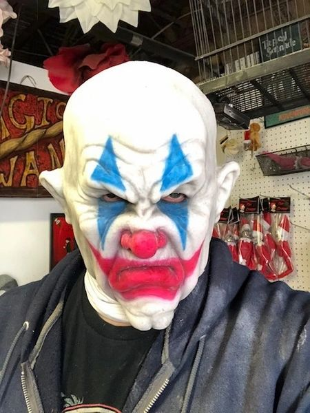 Cranky the Clown - Silicone Face Mask