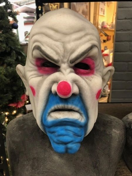 In Stock Cranky the Clown Henchman facemask