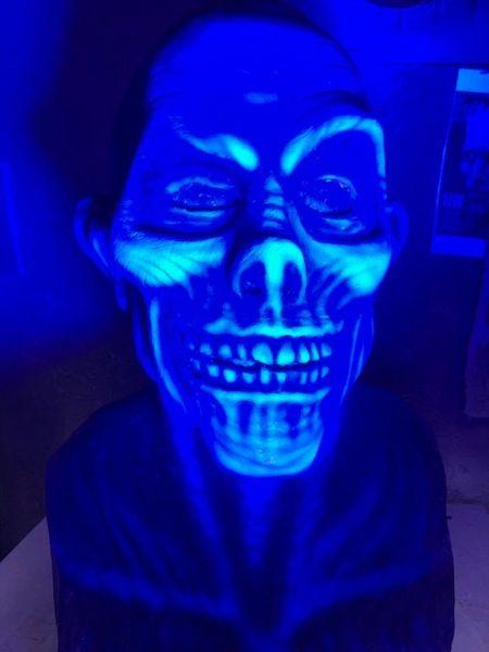 UV reactive Hat Box Ghost