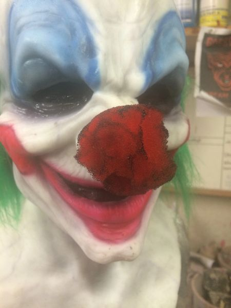 add glued on foam Clown nose- decayed