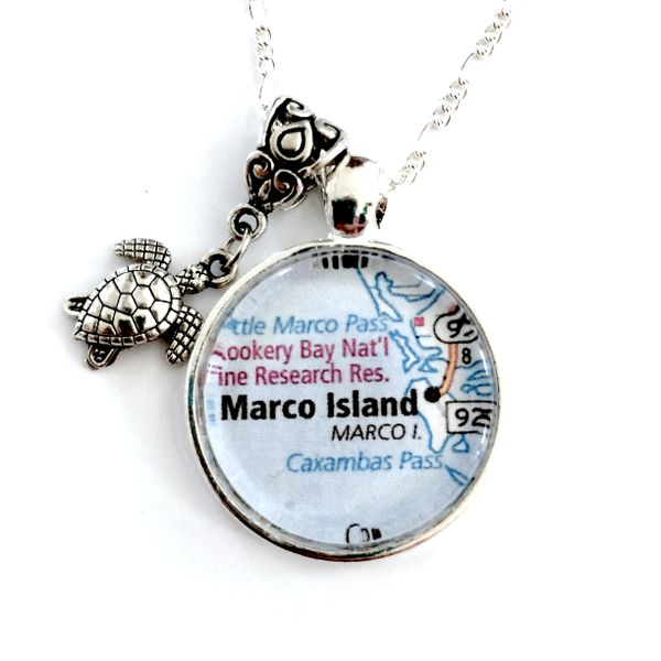 Florida Map Necklace - Marco Island