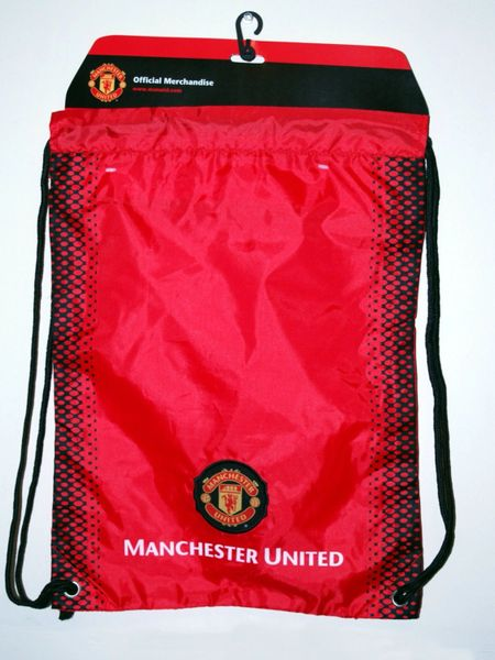 Manchester United FC Authentic Official Licensed Soccer Drawstring Cinch Sack Bag 002