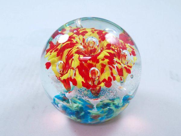 Murano Glass Paperweight Tripact Inc