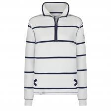 SS20LJ35 - Ladies 1/4 Zip Stripe Sweatshirt White