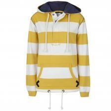SS20LJ36 - Ladies Hooded Stripe Sweatshirt Gorse