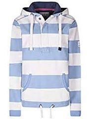 LJ36 - Ladies Hooded Stripe Sweatshirt Denim