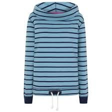 LJ31 - Ladies Roll Neck Sweatshirt Blue Drift