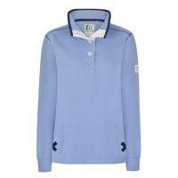 SS20LJ5 - Ladies Slim Fit Button Neck Blue Grey