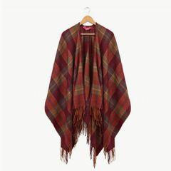 Ness Alva Blanket Wrap Intence Red Check