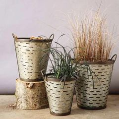 Iron Olive Buckets with handles