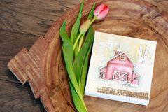 Custom Canvas Barn Art - Red