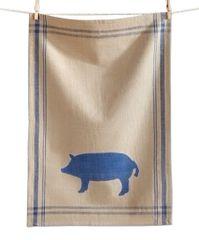 Farm Fresh Pig Dishtowel
