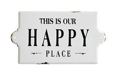 This Is Our Happy Place - Enamel Sign