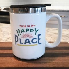 This Is My Happy Place Insulated Travel Mug