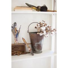 Antiqued Wall Bucket