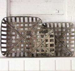 Tobacco Baskets - Set of 3