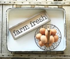 Rustic Farm Fresh Sign