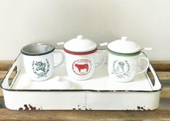 Enamel Tea Mugs