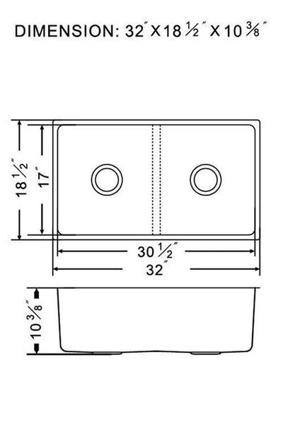 """32"""" Undermount Kitchen Sink"""