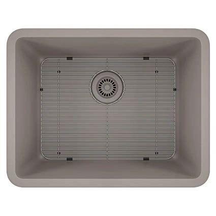 Lexicon Platinum 23x18 Quartz Composite Sink In Concrete