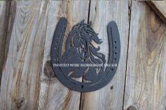 Horse in Horseshoe- Black
