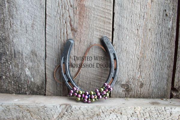 Lucky Horseshoe- Purple mix