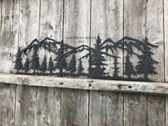 Trees & Mountains in black