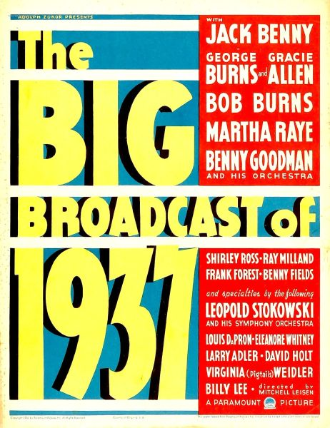Big Broadcast of 1937 (1936) DVD