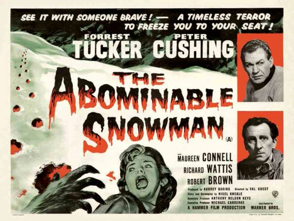 Abominable Snowman Forrest Tucker, Peter Cushing (1957) DVD