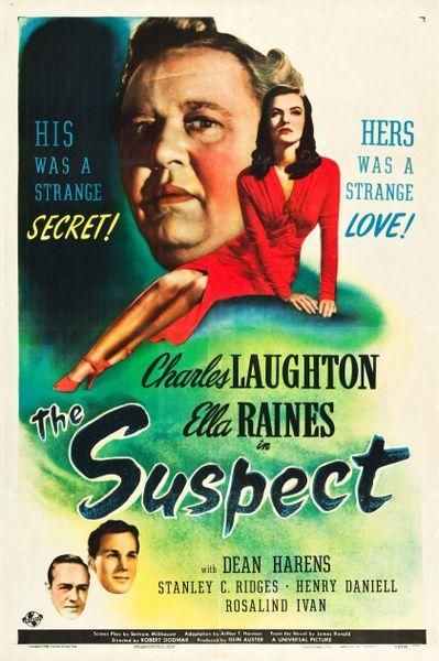 The Suspect, Charles Laughton, Ella Raines, Henry Daniell DVD 1944