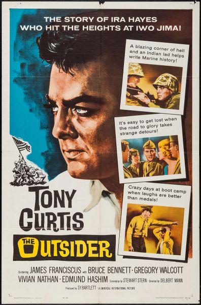 The Outsider, Tony Curtis, James Franciscus, Bruce Bennett, DVD 1961