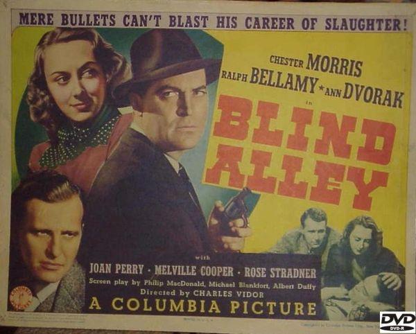 Blind Alley (1939) DVD