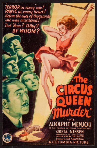 Circus Queen Murder, Adolph Menjou, Greta Nissen, Dwight Frye (1933)