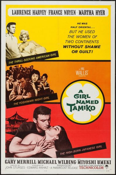 Girl Named Tamiko, Laurence Harvey, France Nuyen, Martha Hyer, Gary Merill (1962)